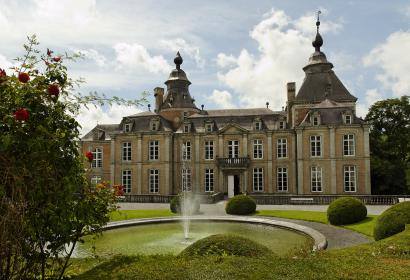 Château - Modave - fontaine - buis