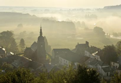 Chassepierre (Florenville) - paysage - panorama - brume